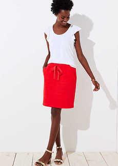 LOFT Petite Textured Pocket Drawstring Skirt