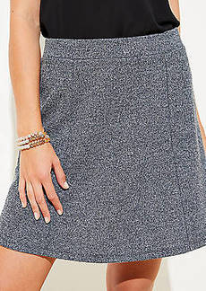 LOFT Petite Textured Flippy Skirt