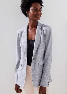 LOFT Petite Textured Knit Blazer