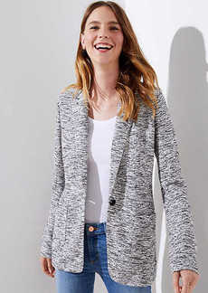 LOFT Petite Textured Knit Patch Pocket Blazer