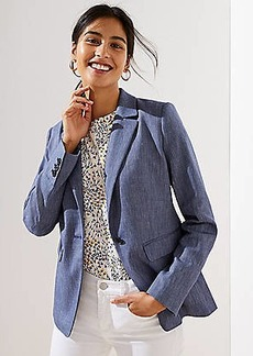 LOFT Petite Textured Modern Blazer