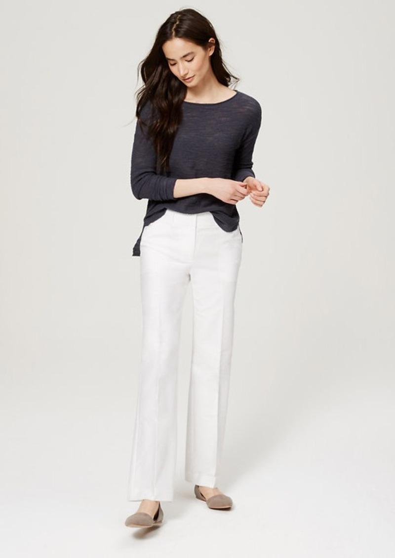 LOFT Petite Textured Shirttail Sweater