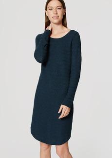 Petite Textured Sweater Dress