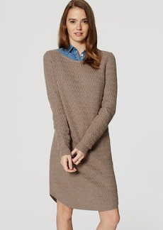 LOFT Petite Textured Sweater Dress