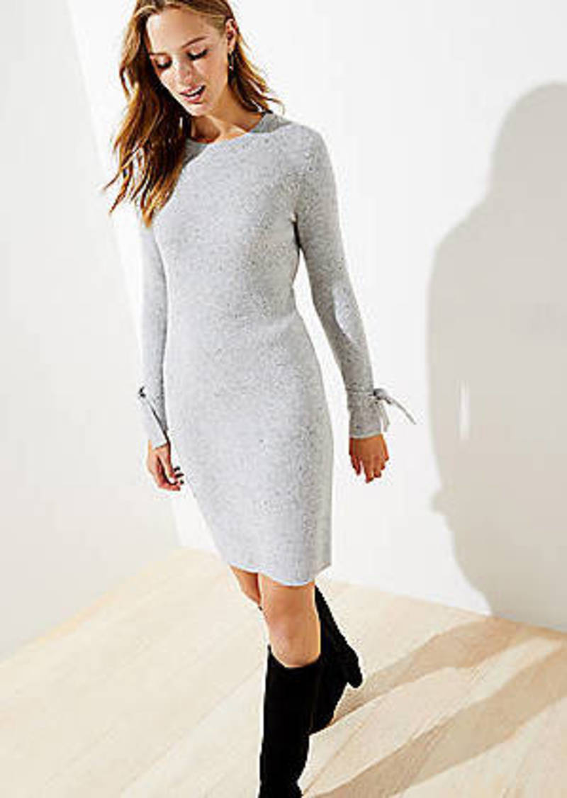 LOFT Petite Tie Cuff Sweater Dress