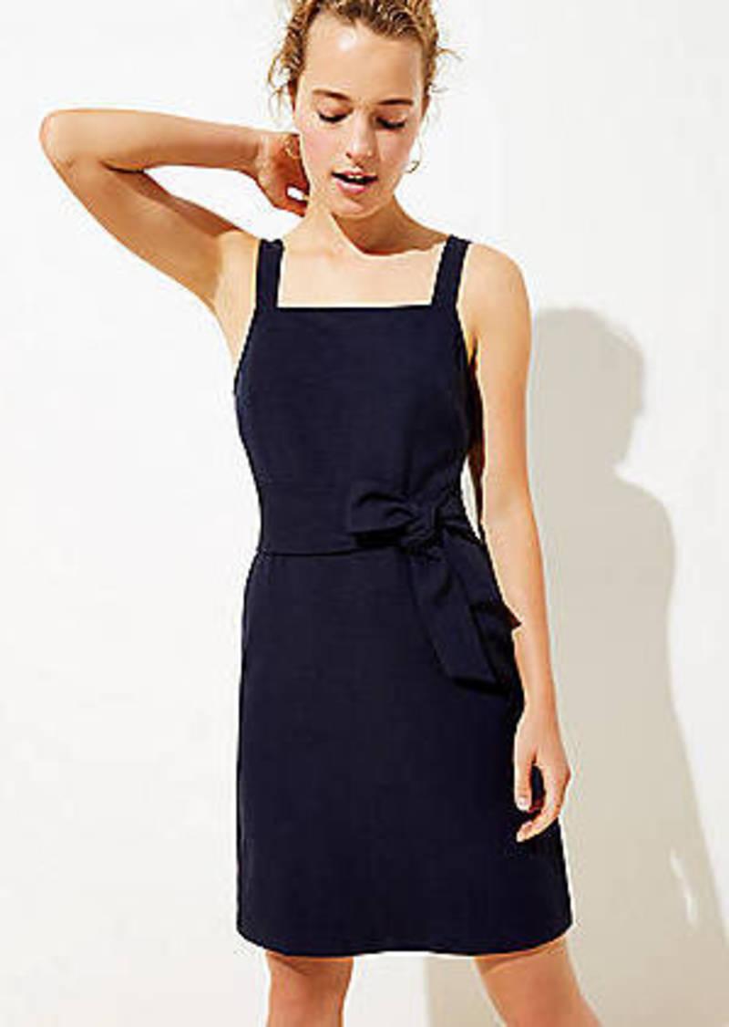 LOFT Petite Tie Waist Flare Dress