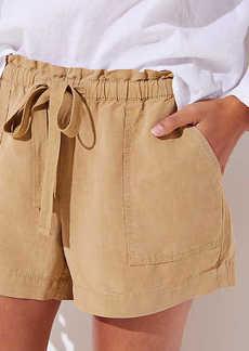 LOFT Petite Tie Waist Safari Shorts