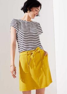 LOFT Petite Tie Waist Shift Skirt
