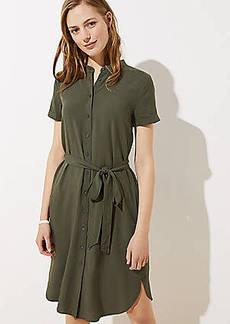 LOFT Petite Tie Waist Shirtdress