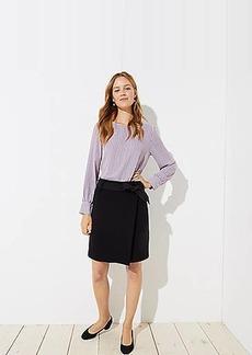 LOFT Petite Tie Waist Wrap Skirt