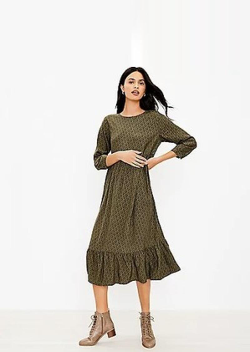 LOFT Petite Tiered Midi Dress