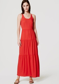 Petite Tiered Strappy Maxi Dress