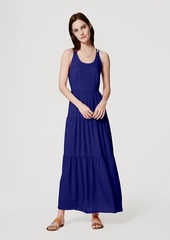 LOFT Petite Tiered Strappy Maxi Dress