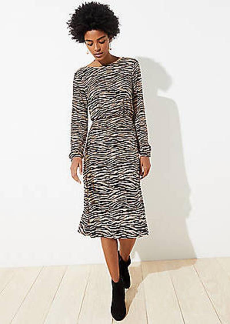 LOFT Petite Tiger Stripe Bar Back Dress