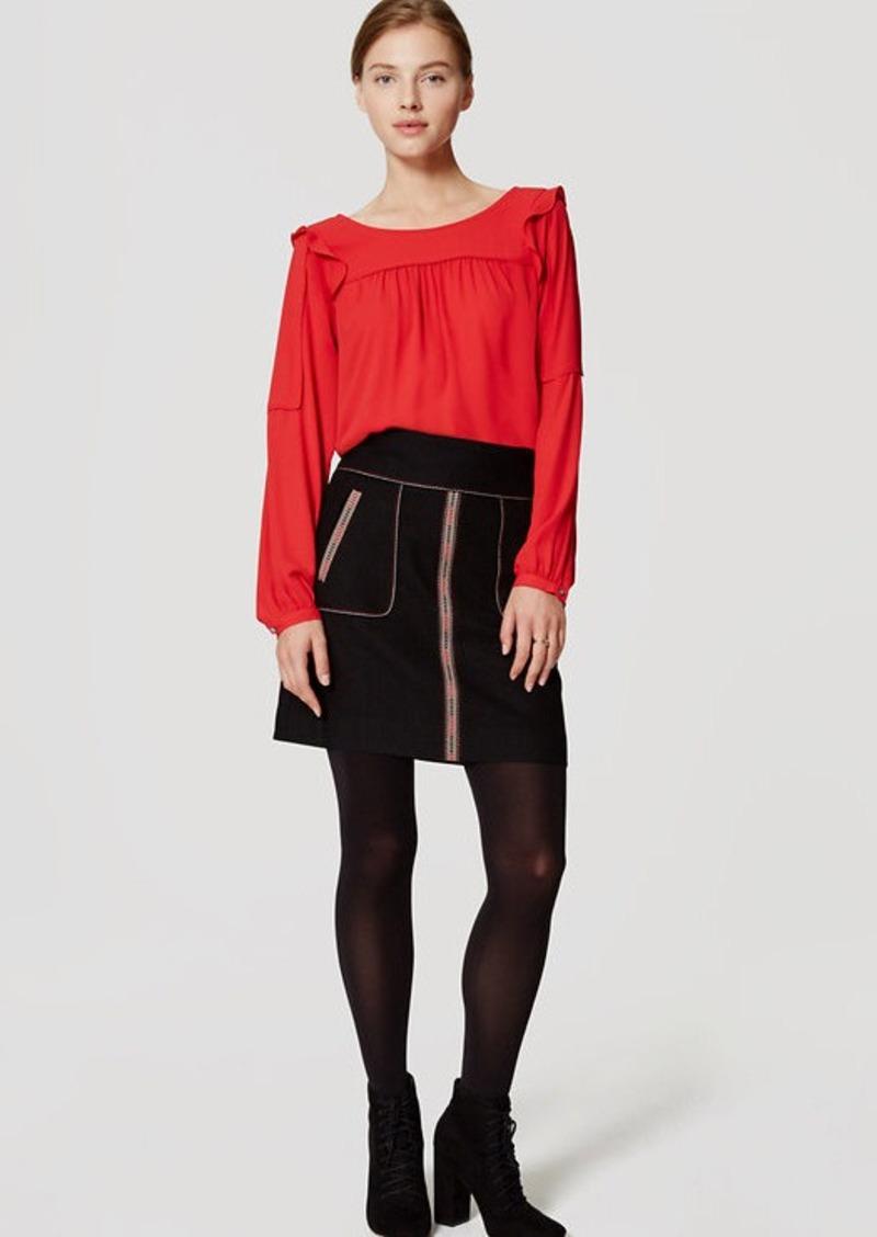LOFT Petite Triangle Tipped Skirt