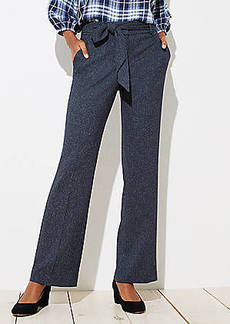 LOFT Petite Trousers in Speckled Tie Waist in Julie Fit