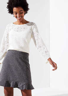 LOFT Petite Tweed Flippy Skirt