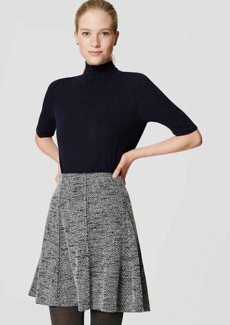 b2c7d606b97 LOFT Petite Tweed Flippy Skirt