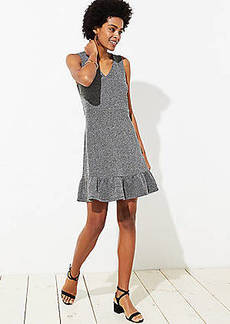 LOFT Petite Tweed Flounce Dress
