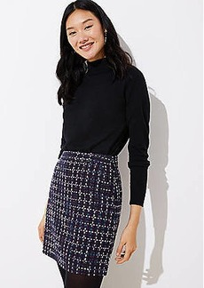 LOFT Petite Tweed Pocket Shift Skirt