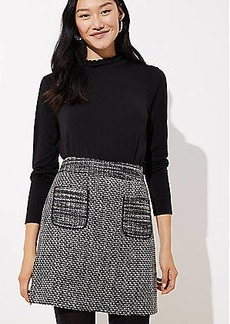 LOFT Petite Tweed Pocket Skirt