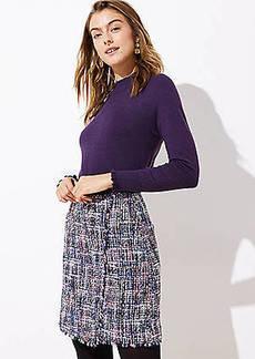 LOFT Petite Tweed Wrap Skirt