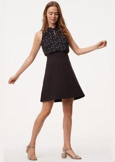 Petite Twist Dot Flare Dress
