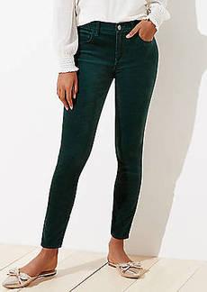 LOFT Petite Velvet Skinny Pants