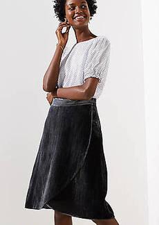 LOFT Petite Velvet Wrap Skirt