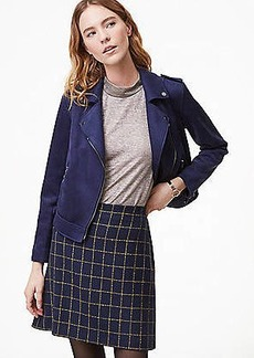 LOFT Petite Windowpane Shift Skirt