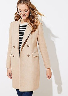 LOFT Petite Wool Twill Double Breasted Coat