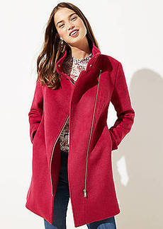 LOFT Petite Wooly Moto Coat