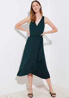 LOFT Petite Wrap Midi Dress