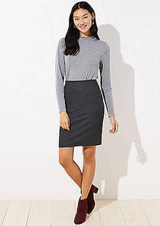 LOFT Pindot Jacquard Pencil Skirt