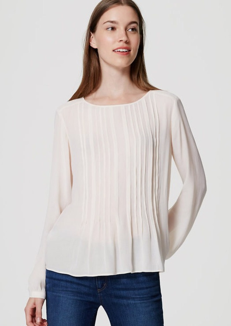 LOFT Pintucked Blouse