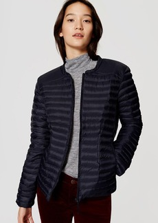 LOFT Pintucked Puffer Jacket