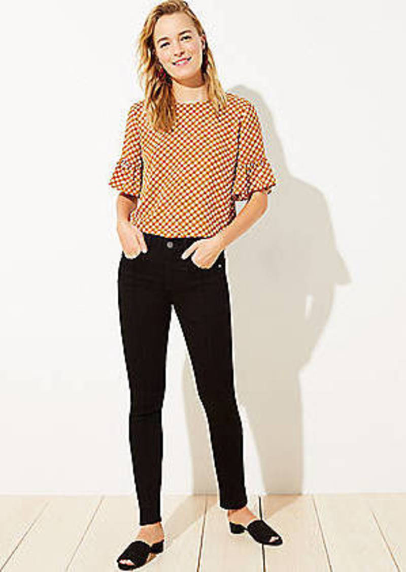 LOFT Pintucked Skinny Jeans in Washed Black Wash