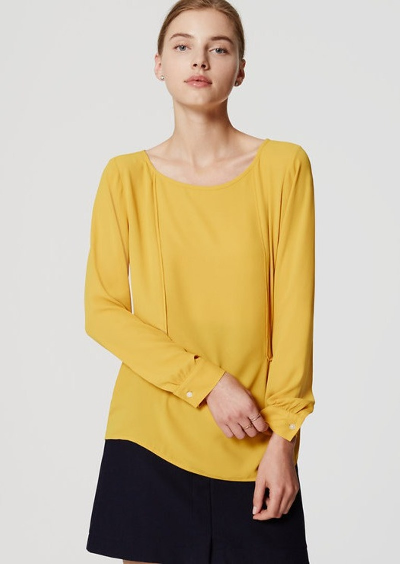 LOFT Piped Blouse