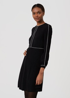 Piped Flare Dress