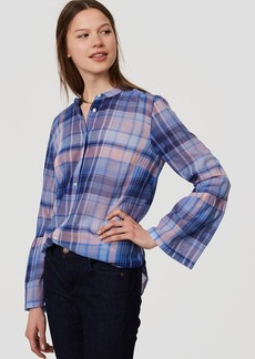 Plaid Bell Sleeve Softened Shirt