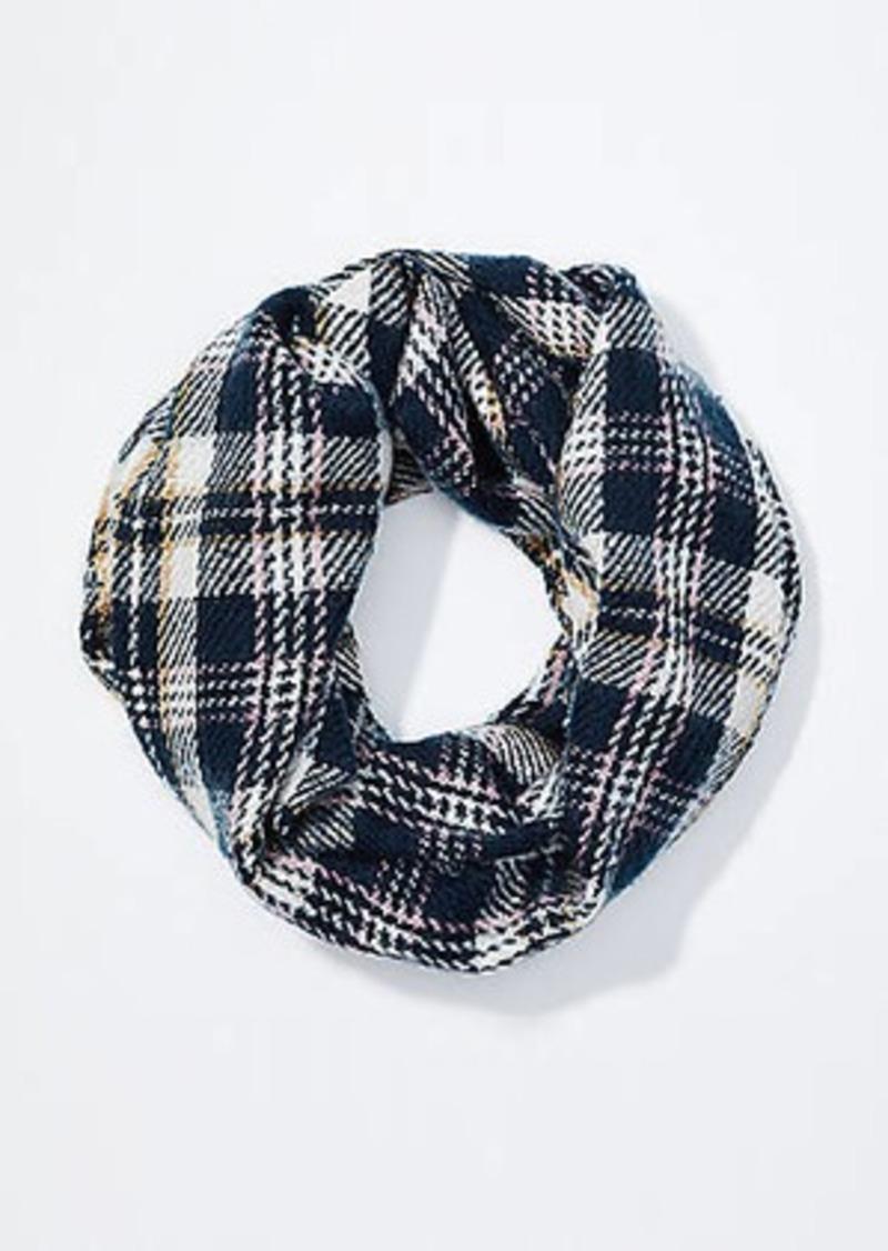LOFT Plaid Blanket Infinity Scarf
