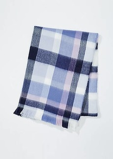 LOFT Plaid Blanket Scarf