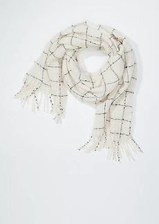 LOFT Plaid Bouclé Blanket Scarf