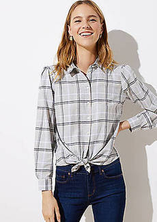 LOFT Plaid Button Down Shirt