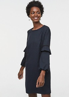 Plaid Flounce Sleeve Dress