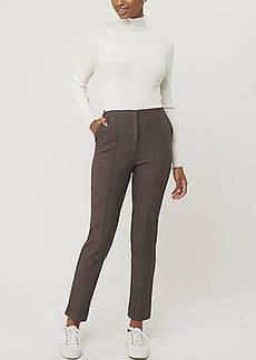 LOFT Plaid High Waist Slim Pants