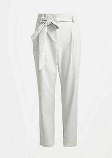 LOFT Textured High Waist Tapered Slim Ankle Pants