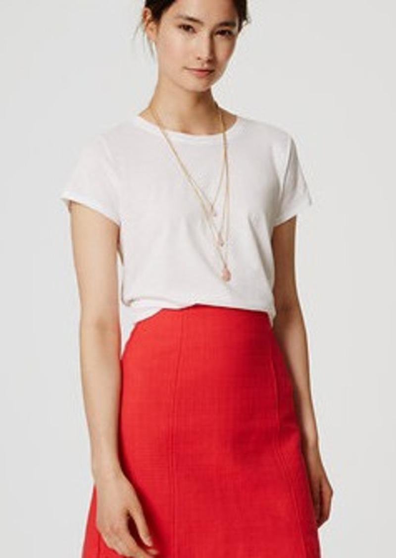LOFT Plaid Jacquard Shift Skirt