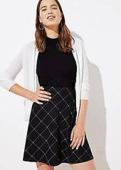 LOFT Plaid Knit Flippy Skirt