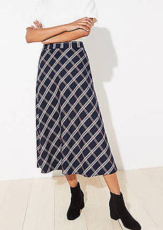 LOFT Plaid Midi Skirt